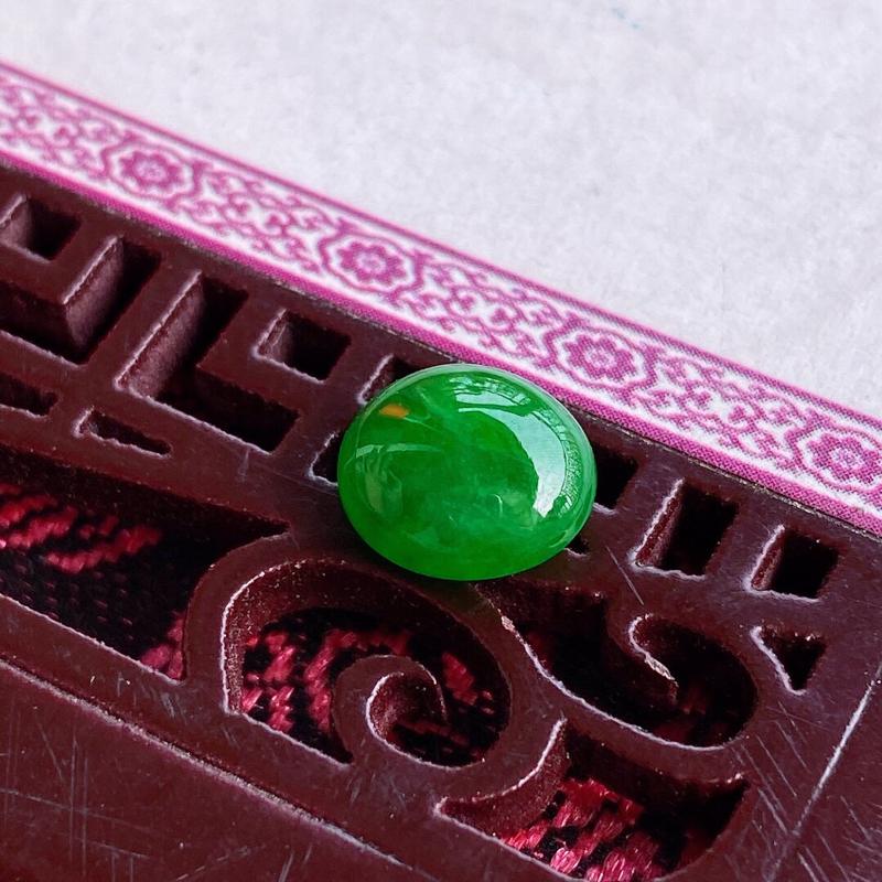 满绿颜色好福气戒面可镶嵌,天然翡翠A货