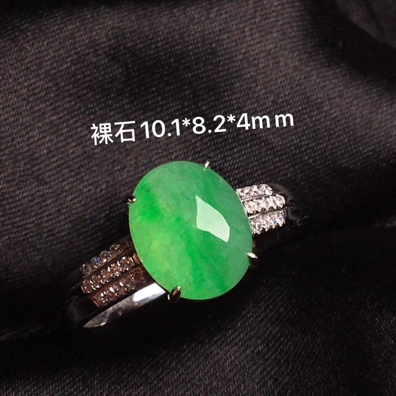 【天然翡翠A货,18k金镶嵌钻石,满绿戒指,料子细腻,冰透水润,色泽鲜艳,豪华镶嵌,款式精美,性价比超高,##**】图10