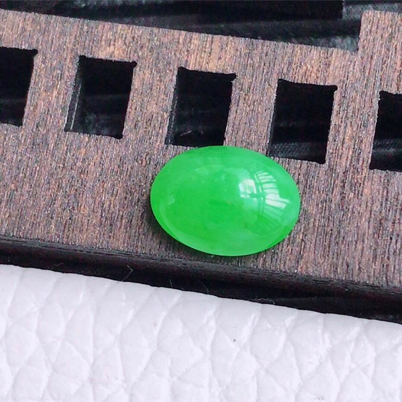 z阳绿福气戒面可镶嵌,尺寸:9/6.6/3.7mm,天然翡翠A货