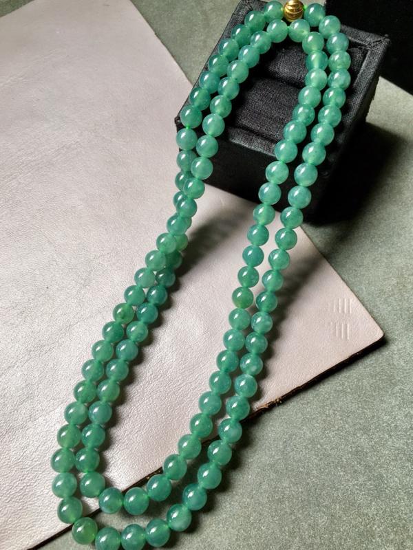 【好物价优】*冰种蓝水珠链,完美水润.尺寸6.7.共108粒