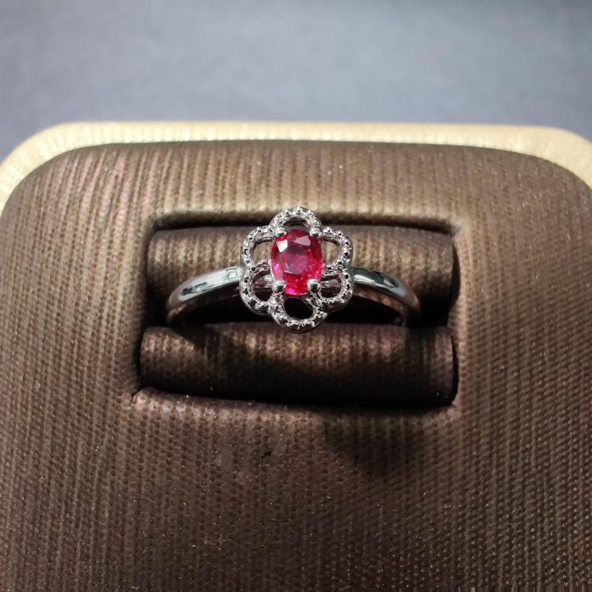 【戒指】18k金+红宝石