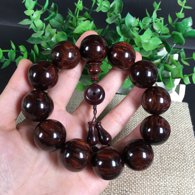 海南黄花梨紫油梨、2.0cm、天眼、大黑线、性价比高、把玩易包浆!收藏价值、性价比都高