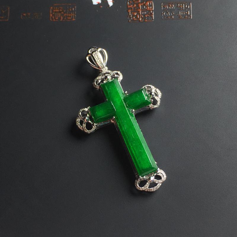 细糯种满色十字架吊坠