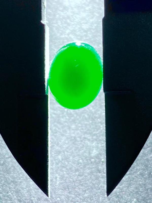 墨翠【蛋面】完美无裂纹,细腻干净,黑度好,性价比高,雕工精湛,打灯透绿