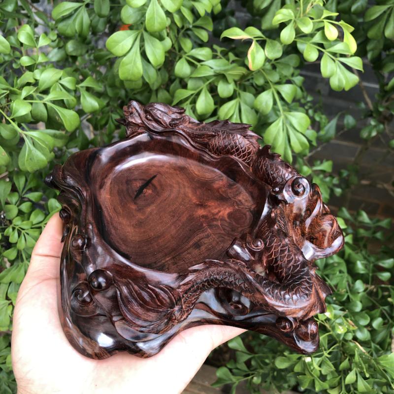 海南黄花梨精品紫油梨摆件(吉龙款松趣笔筒),大师亲工精雕,工艺精湛,纹理炫彩,高油密,色泽均匀,家里