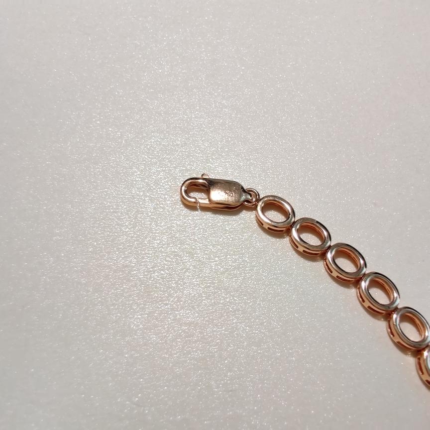 【【手链】18k金+红宝石+钻石  宝石颜色纯正 货重:12.21g  主石:3.95ct/135p##**】图5