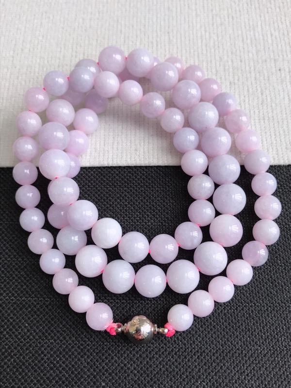 缅甸天然老坑翡翠A货手链,珠子直径尺寸8.6,料子细腻,隔珠为装饰品