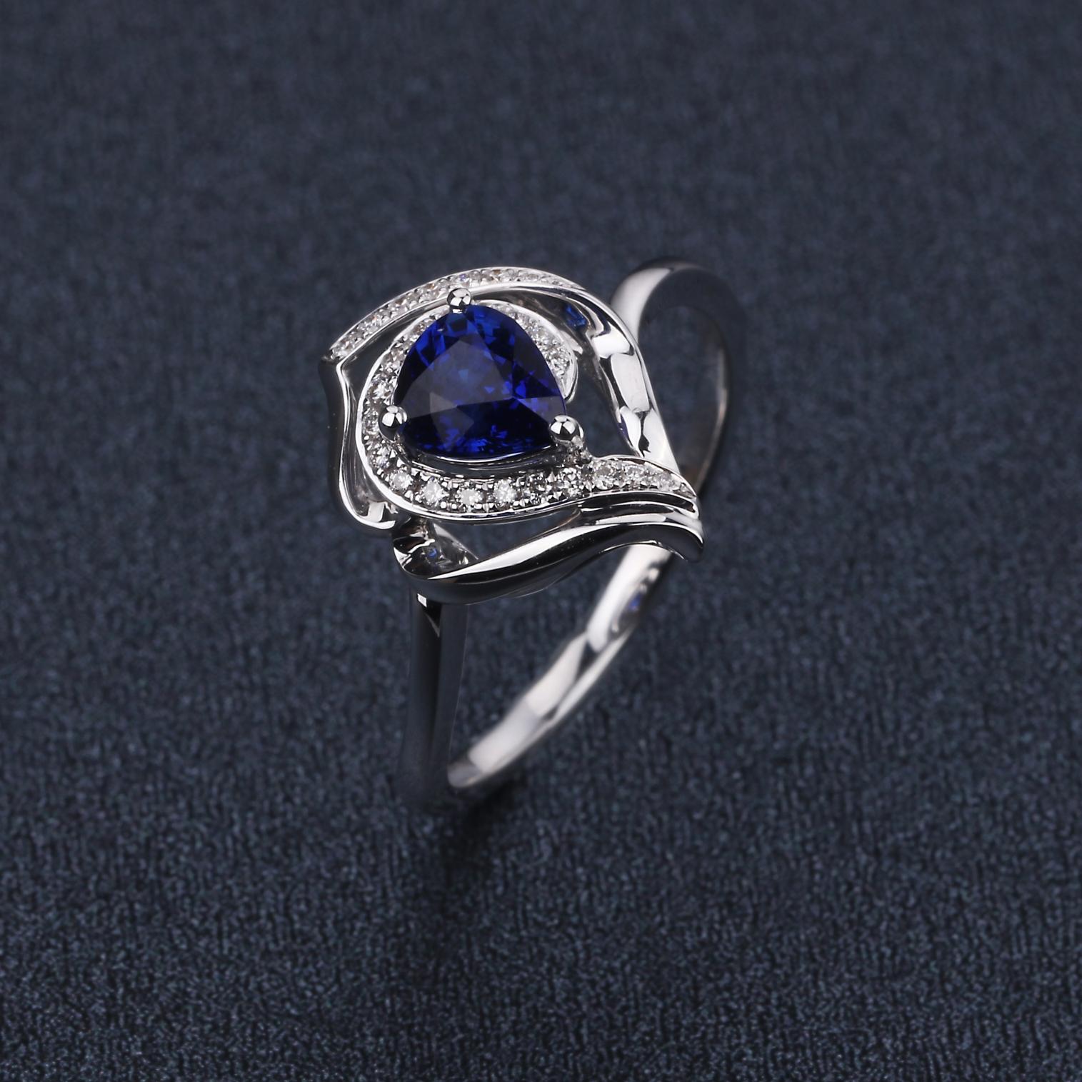 【原价1.12万元】*【戒指】18k金+蓝宝石+钻石