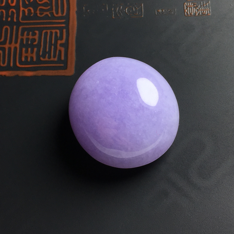 糯种紫罗兰戒面 尺寸26-24-14毫米 水润饱满 色彩艳丽