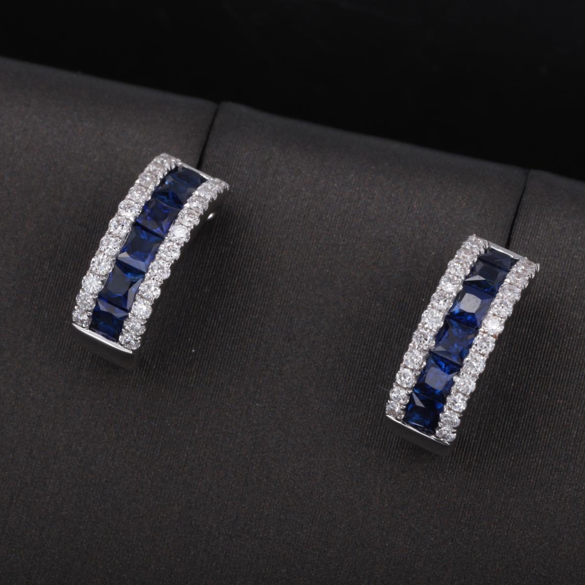 【耳饰】18k金+蓝宝石+钻石