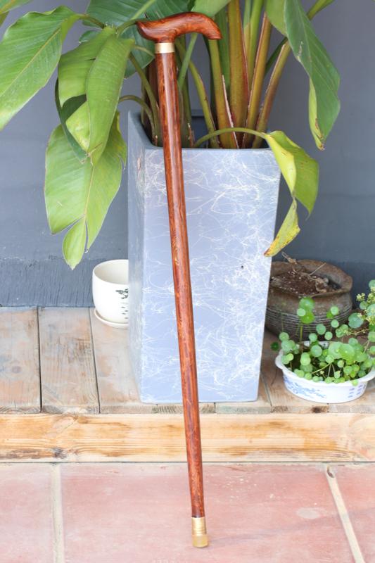 海南黄花梨 一木制器 丁字拐杖 满文奇特纹理 收藏
