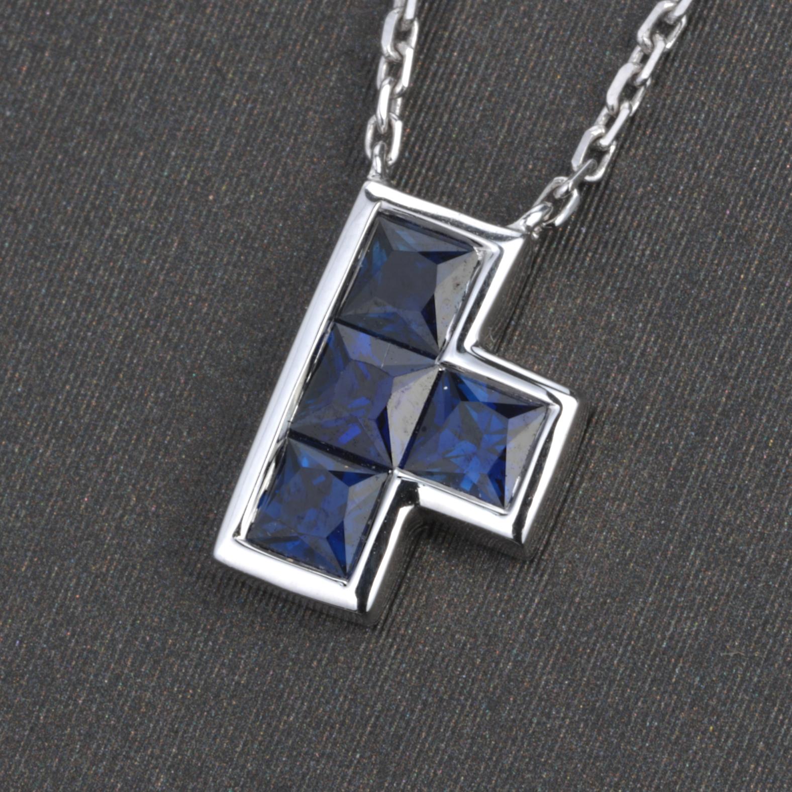 【项链】18k金+蓝宝石  宝石颜色纯正 货重:2.31g  主石:0.56ct/4p##**