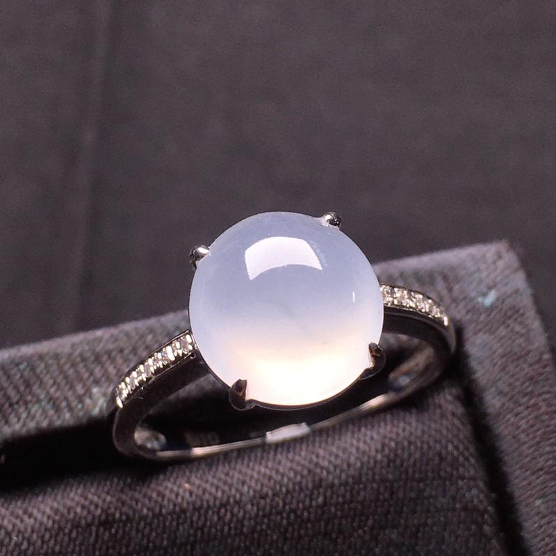 【原价7000元】*冰起胶戒指,种老细腻,冰润无暇!裸石:10.2*9.7*4.5