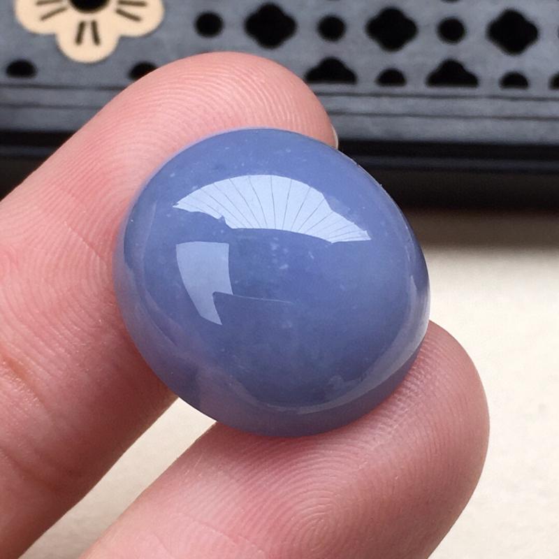 缅甸翡翠紫罗兰蛋面镶嵌件,颜色漂亮,玉质莹润,佩戴佳品,尺寸:16.8*14.9mm,重3.62克