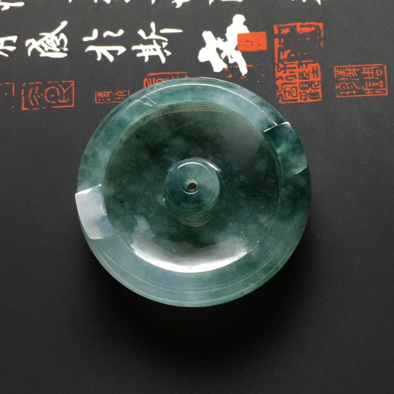 冰糯种飘花精美香插摆件 尺寸31.5-10.5毫米 水润冰透 色泽红润 细腻十足
