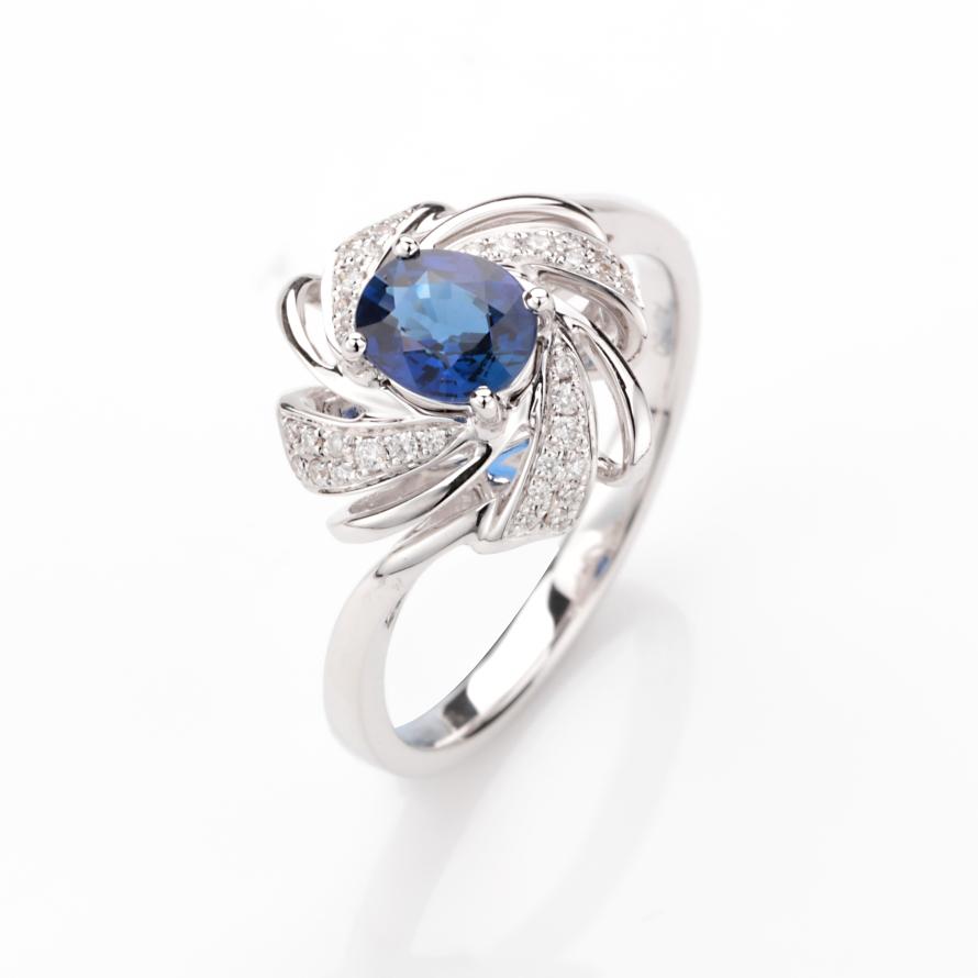 【源头直供】【戒指】18k金+蓝宝石+钻石