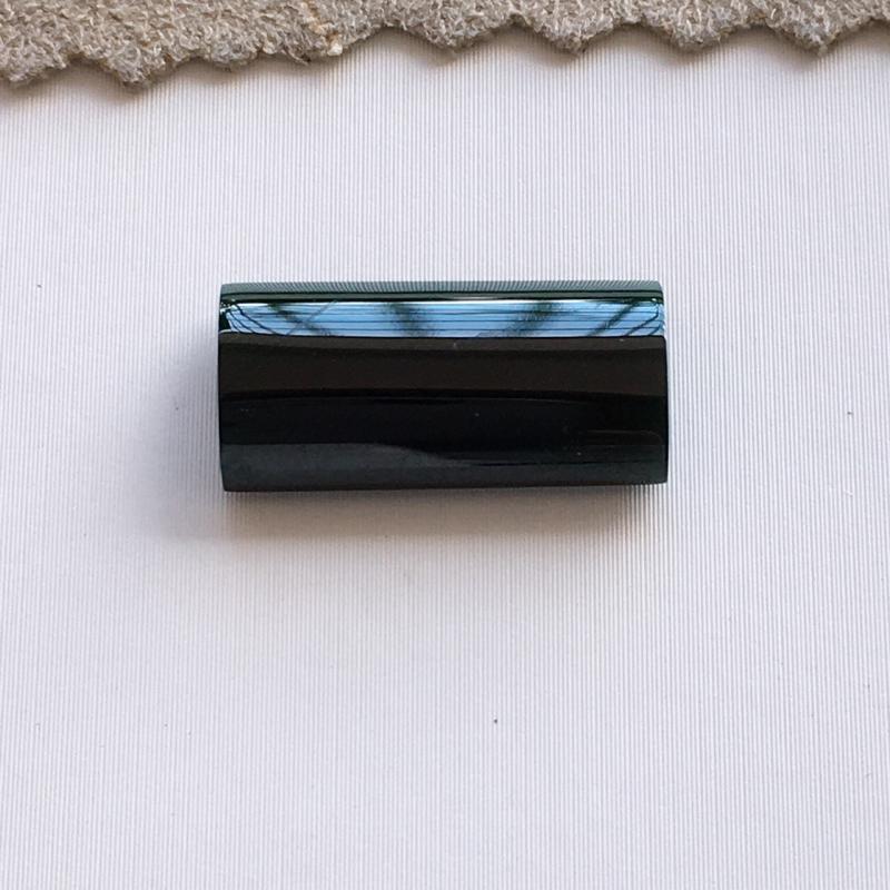 自然光实拍,缅甸a货翡翠,墨翠戒面,种水好,玉质细腻,颜色黝黑,镶嵌佳品