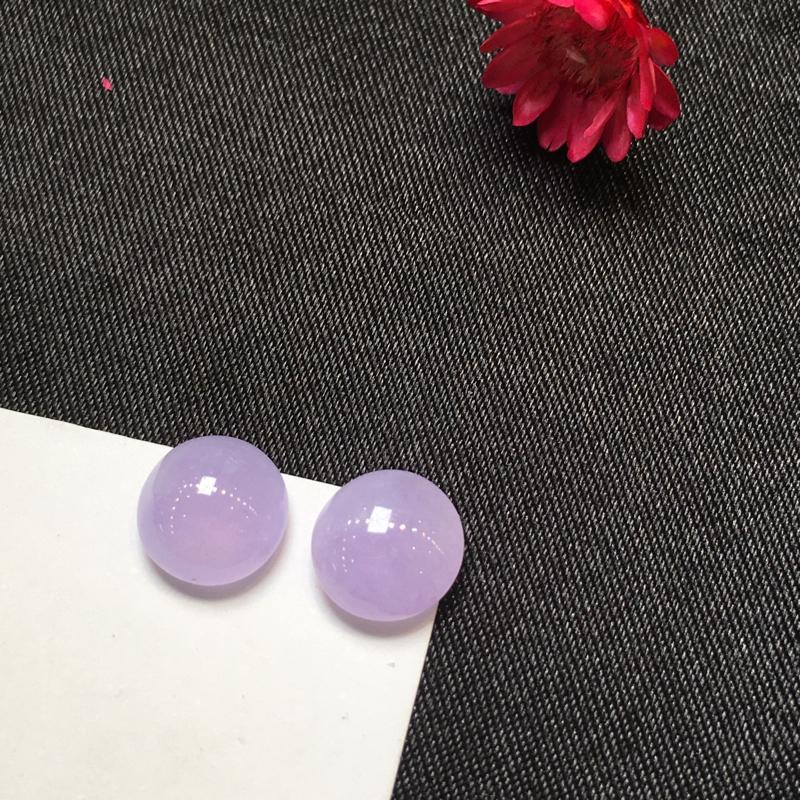 一对紫罗兰戒面,完美,底庄细腻,镶嵌后效果更显档次,性价比高,推荐,尺寸7.7*3.7/8*4.1m