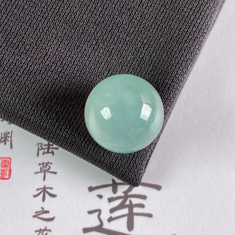 A货翡翠-种好淡绿圆珠,尺寸-14.5mm
