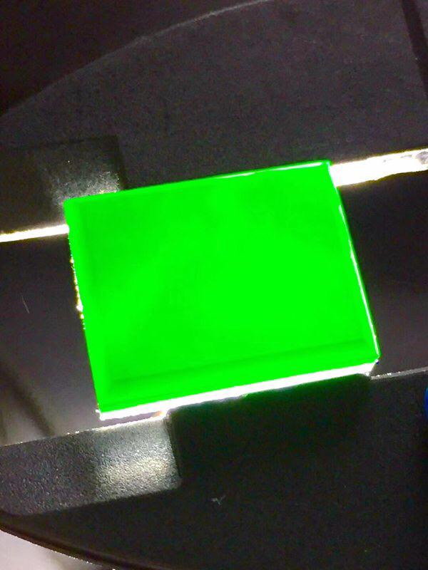 墨翠 【方形戒面】细腻干净,黑度极黑,性价比高,雕工精湛,打灯透绿 .