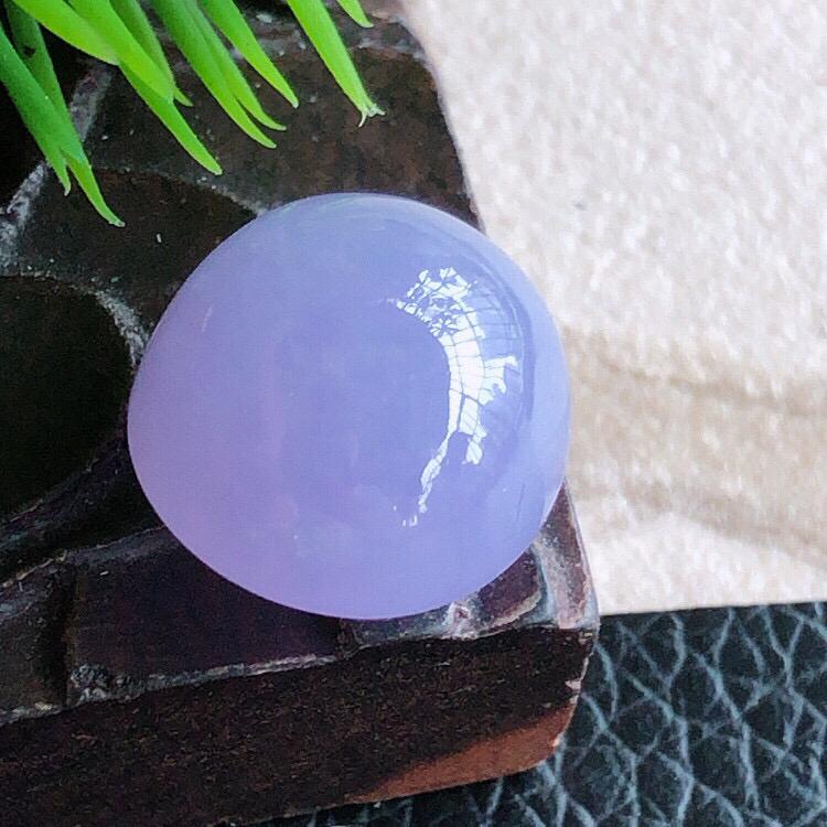 天然缅甸翡翠A货紫罗兰蛋面裸石,可镶嵌戒指,吊坠,锁骨链,料子细腻柔洁 ,尺寸14.5/13/9mm