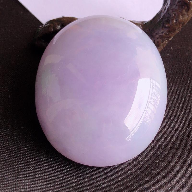 天然a货翡翠紫罗兰大裸石蛋面(镶嵌件),玉质细腻,种水足