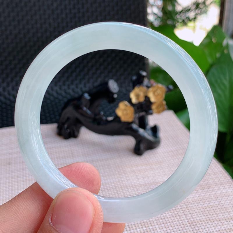 细腻圆条、尺寸:55.2/9.2mm,A货翡翠细腻圆条手镯、编号0920xs