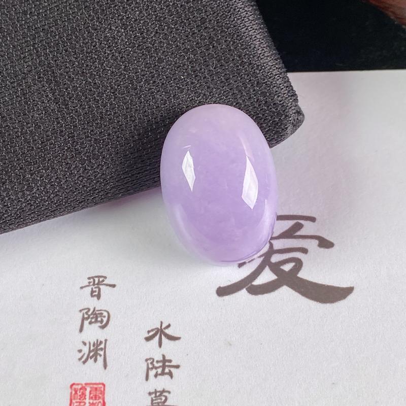 A货翡翠-种好紫罗兰蛋面镶嵌件,尺寸-21.2*15.1*10.7mm