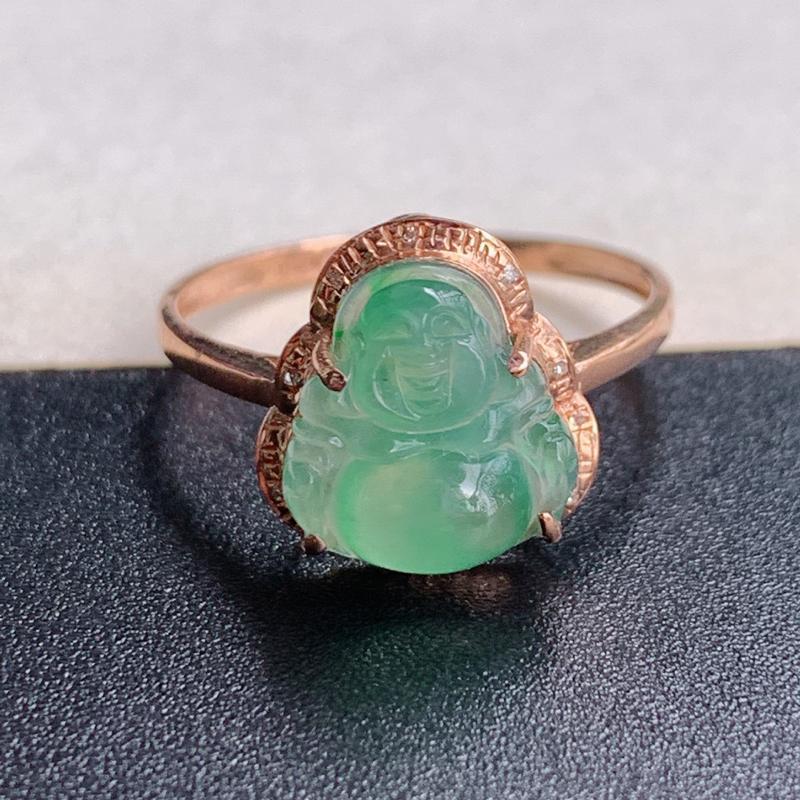 佛公戒指、尺寸:内径17mm裸石10.1/9.4/3.8mm含金11.8/18.4/24.1mm,A