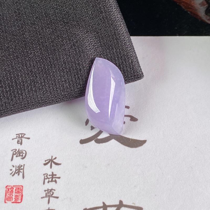 A货翡翠-种好紫罗兰随形镶嵌件,尺寸-21.2*10.9*5.2mm