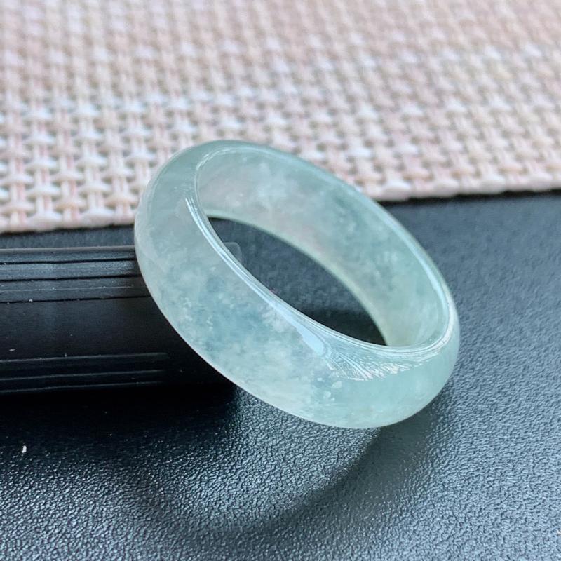 冰透戒指、尺寸:18.1/6.1/3mm,A货翡翠冰透翡翠戒指、编号1010**