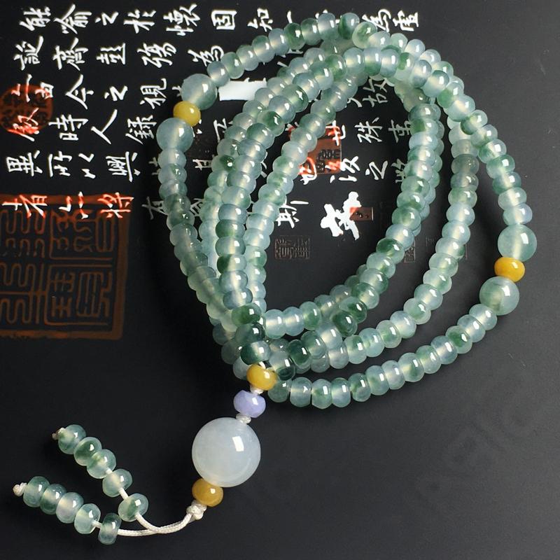 冰种飘花盘珠项链 尺寸5-2毫米 种好冰透 飘花灵动 款式精美
