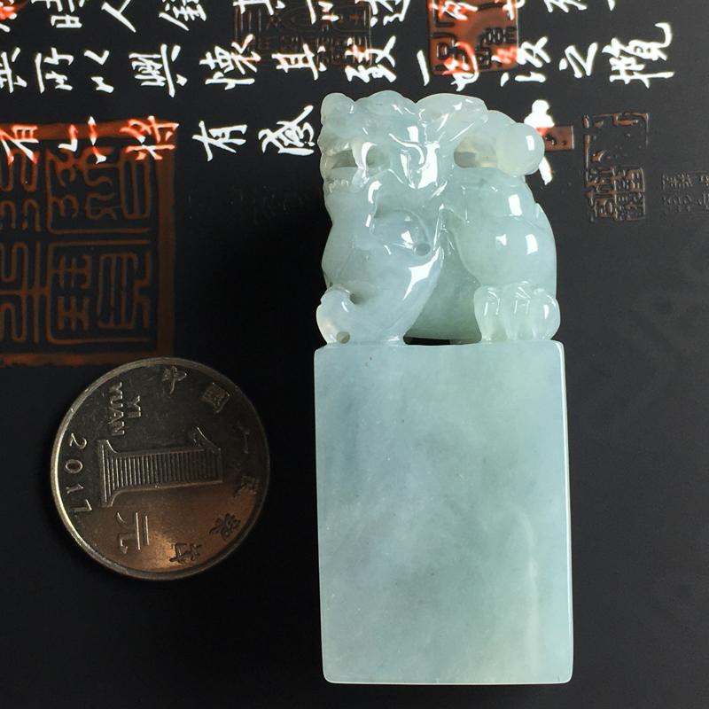 细糯种貔貅印章 尺寸57-24-23毫米 水润细腻 雕工精湛