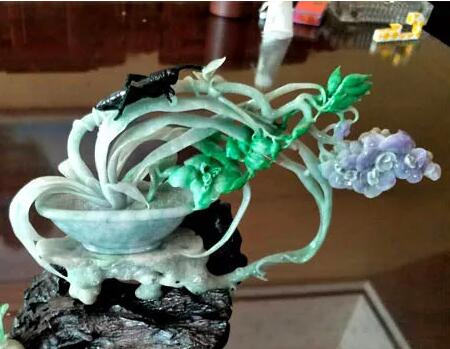 翡翠雕刻大师作品清逸