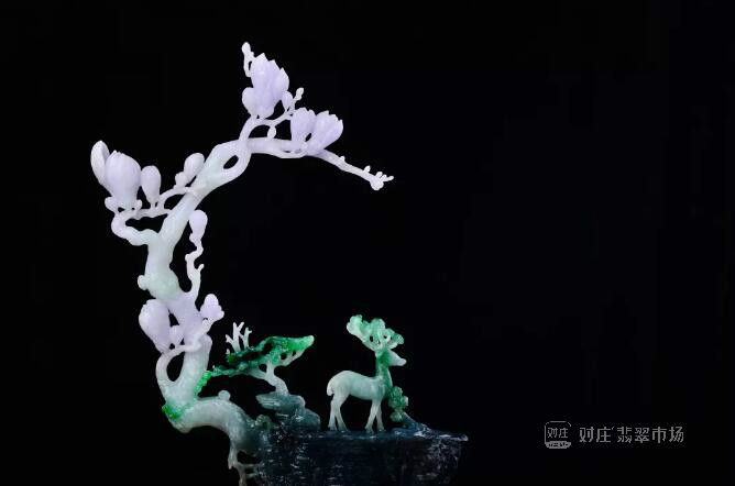 翡翠雕刻植物花朵寓意大全